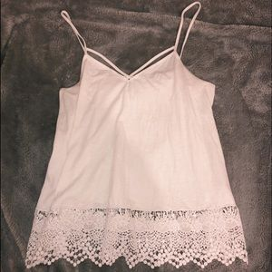 lace lined bottom tank